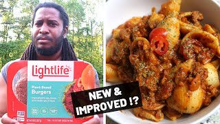 NEW LIGHTLIFE VEGAN BURGERS | Updated plant-based recipe Taste Test + Review