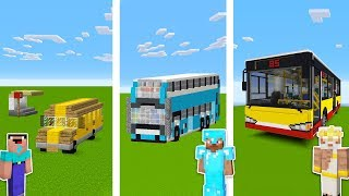 Minecraft NOOB vs PRO vs GOD: BUS STATION in Minecraft / Funny Animation