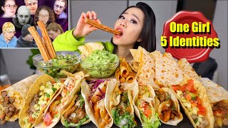 Authentic Mexican TACOS, SHRIMP CEVICHE, BURRITOS, QUESADILLAS MUKBANG 먹방 | Eating Show