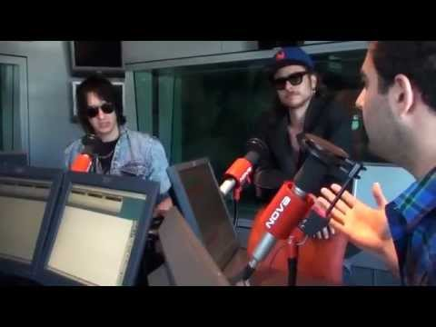 Julian Casablancas &amp; Alex Carapetis with Ryan, Monty and Wippa