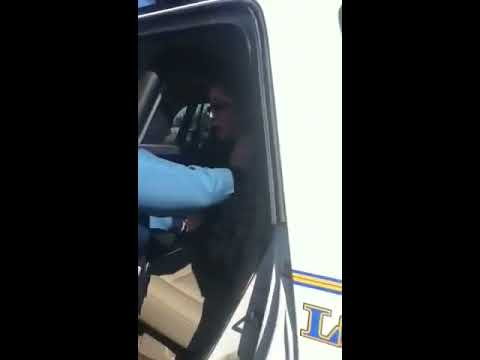 Young woman being arrested for nothing