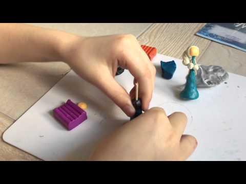 Как сделать из пластилина эльзу из холодного сердца