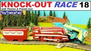 Thomas & Friends KNOCK-OUT RACE #18 - toy trains for kids. Pociągi zabawki Tomek i Przyjaciele