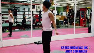 ANDY DOMINGUEZ -MENDEZ GYM NYC- BOXING SKILLS -JUMPING ROPE