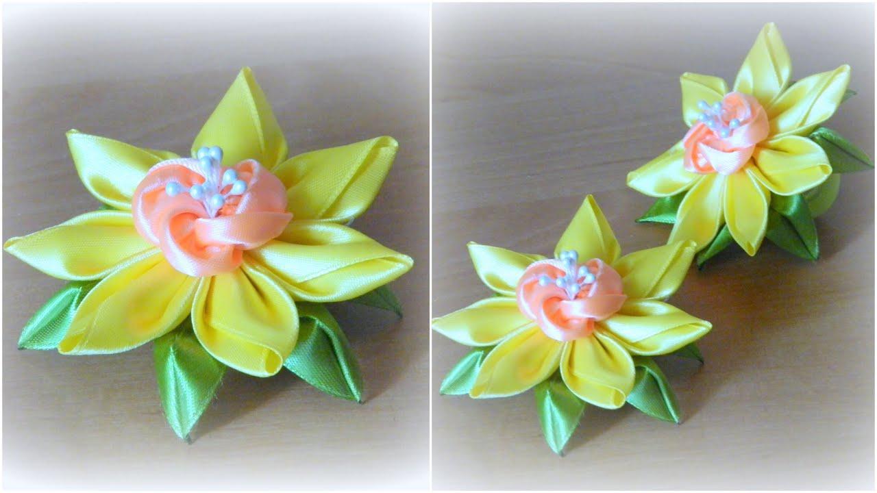 Цветы из лент своими рукам страна мастеров 70