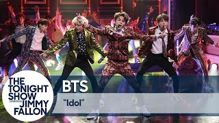 Bts Performs 34 Idol 34 On The Tonight Show