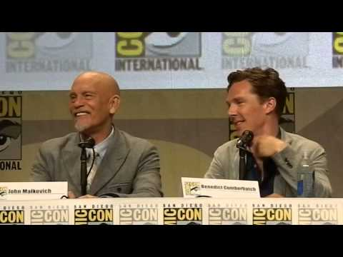 Benedict Cumberbatch at SDCC part 2 Q&A Penguins of Madagascar