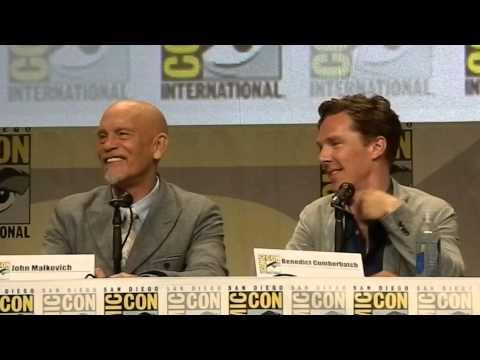 Benedict Cumberbatch at SDCC part 2 Q&A Penguins of Madagascar