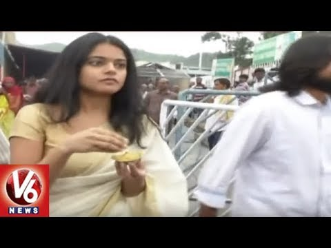 Srinivasa Kalyanam And Lover Movie Teams Visits Tirumala Venkateshwara Temple | V6 News