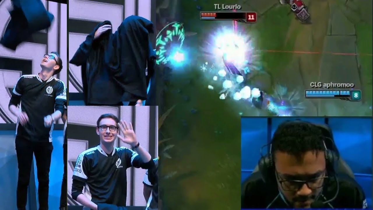 Bjergsen- VEIL FALLS ON HIM - HILARIOUS | Bjergsen VS Pants | Aphromoo BARD SAVE&KILL | LoL Moments