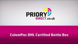 CP 181 ColomPac DHL Certified Bottle Boxes from Priory Direct