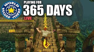 THE LONGEST GAME OF TEMPLE RUN - Playing For 1 YEAR (World Record)