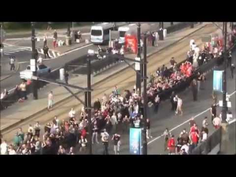 Poland vs Russia Hooligans Best Fighting Footage Euro 2012