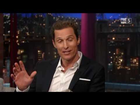 Matthew McConaughey al David Letterman 22-04-2013 (sub ita)