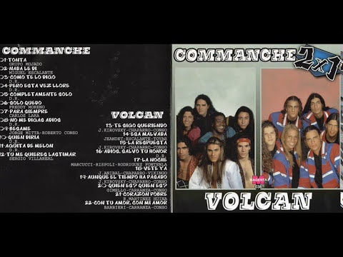 COMMANCHE Y VOLCAN CD  DOBLE  ENTERO COMPLETO