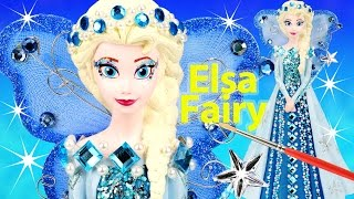 FROZEN ELSA FAIRY BLUE PRINCESS DRESS Paint Your Own Glitter Gems Wings Star Wand Money Bank How to