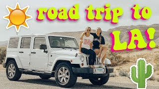 road trip to LA + airbnb house tour