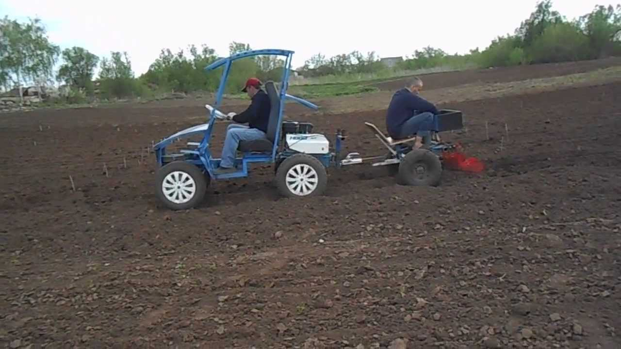 Трактор из мотоблока своими руками фото