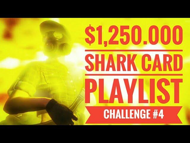 $1,250.000 Shark Card Playlist Challenge #4  Live Stream GTA 5 Online