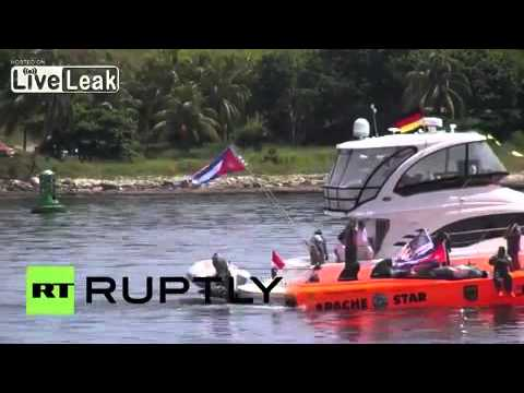 [FUNNY]2016 Cuba: German sportsman Roger Kluh smashes world speed record in powerboat