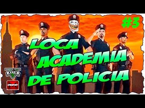 GTA V ONLINE: Loca academia de policia | En esta academia solo hay LOCOS !!! # 3 Jugando con subs