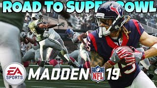 Road to the Super Bowl! Madden 19 Franchise Mode!