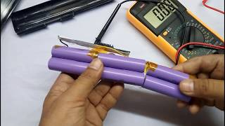 Repair laptop battery at home|| how to open laptop battery and rebuild after repairing