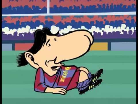 Gerard Piqué y Shakira en caricatura española -