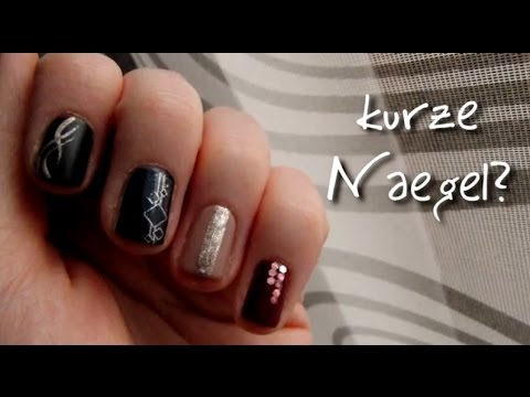kurze n gel l nger aussehen lassen mit einfachen nailarts youtube. Black Bedroom Furniture Sets. Home Design Ideas