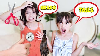 HEADS OR TAILS? THE COIN TOSS CHALLENGE | TwoSistersToyStyle