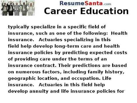 What Actuaries Do - Career Education