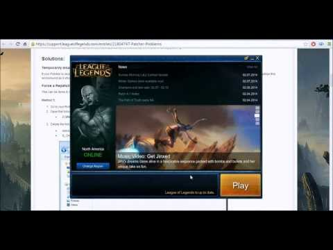 How to fix League of Legends Download/Patcher Stuck on 99%