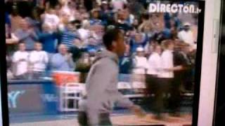 John Wall does the Y in Rupp Arena during Kentucky and Tennessee Game