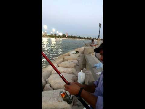 my friend abdul salam fishing in dammam corniche