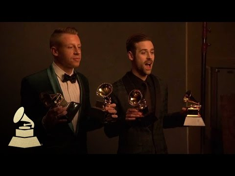 Macklemore & Ryan Lewis in Danny Clinch Photography Room at 56th Annual GRAMMY Awards | GRAMMYs