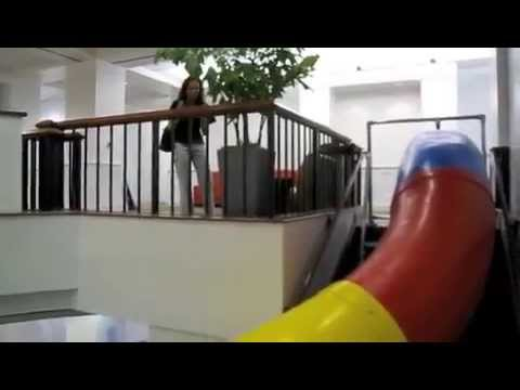 Google's San Francisco office slide - first ride in 2008
