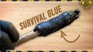 We Made Sap and Charcoal Survival Glue