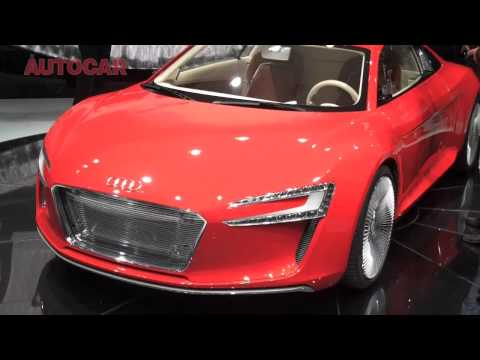 Audi R8 e-tron electric concept by autocar.co.uk