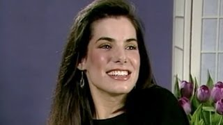 24-year-old Sandra Bullock (Interview 1989)