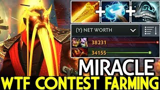 MIRACLE [Ember Spirit] WTF Contest Farming with Alchemist 7.22 Dota 2