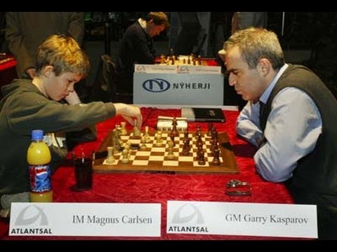 Amazing Game: Magnus Carlsen vs. Garry Kasparov - Reykjavik Rapid 2004 (Chessworld.net)