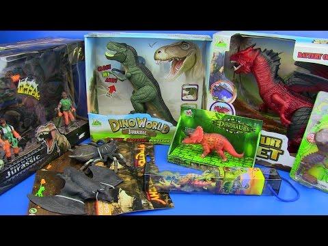 DINOSAURS TOYS FOR KIDS ! Dinosaurs Jurassic World T-Rex,Dragon ..video for kids