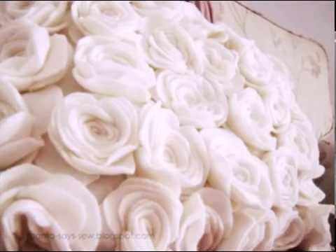 Подушки с розами из ткани своими руками