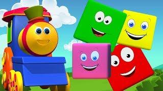 بوب قطار الألوان ركوب   لون للأطفال   تعلم الألوان   Bob the Train   3D Color   Bob Train Color Ride