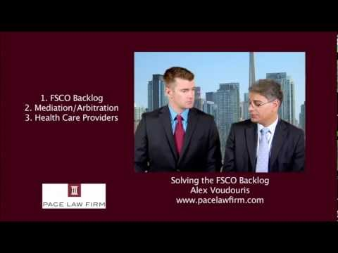 Toronto Personal Injury Lawyers - Ending the FSCO Backlog