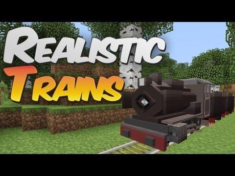 Realistic Trains in Minecraft - Traincraft, Trains & Zeppelin Mod Showcase
