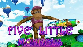 Five Little Monkeys Flying Bobs  | Kids Song | Baby Song |  Children Song | Nursery Rhyme