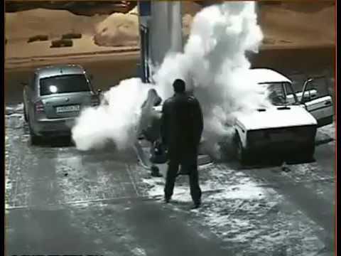 Hombre Provoca Incendio En Gasolinera