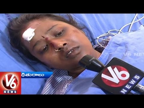 Car Accident At Pedda Amberpet ORR | Mother And Daughter Hospitalized | Hyderabad | V6 News