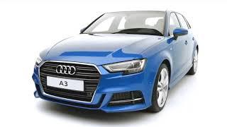 The Audi Car Range A1, A3, A6, RS 5, Q 3, TT Coupe, 2018